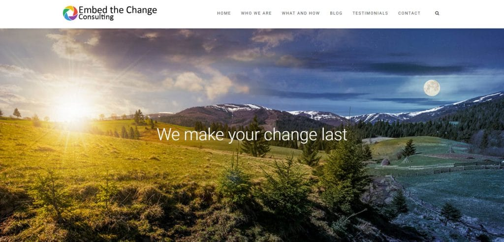 Embed the Change home page image
