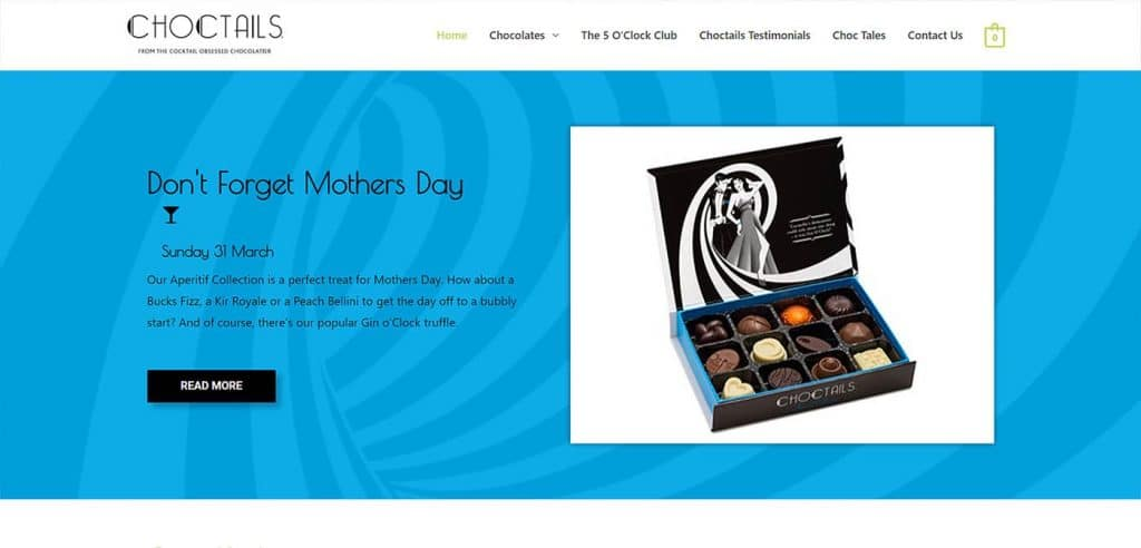 Choctails Homepage