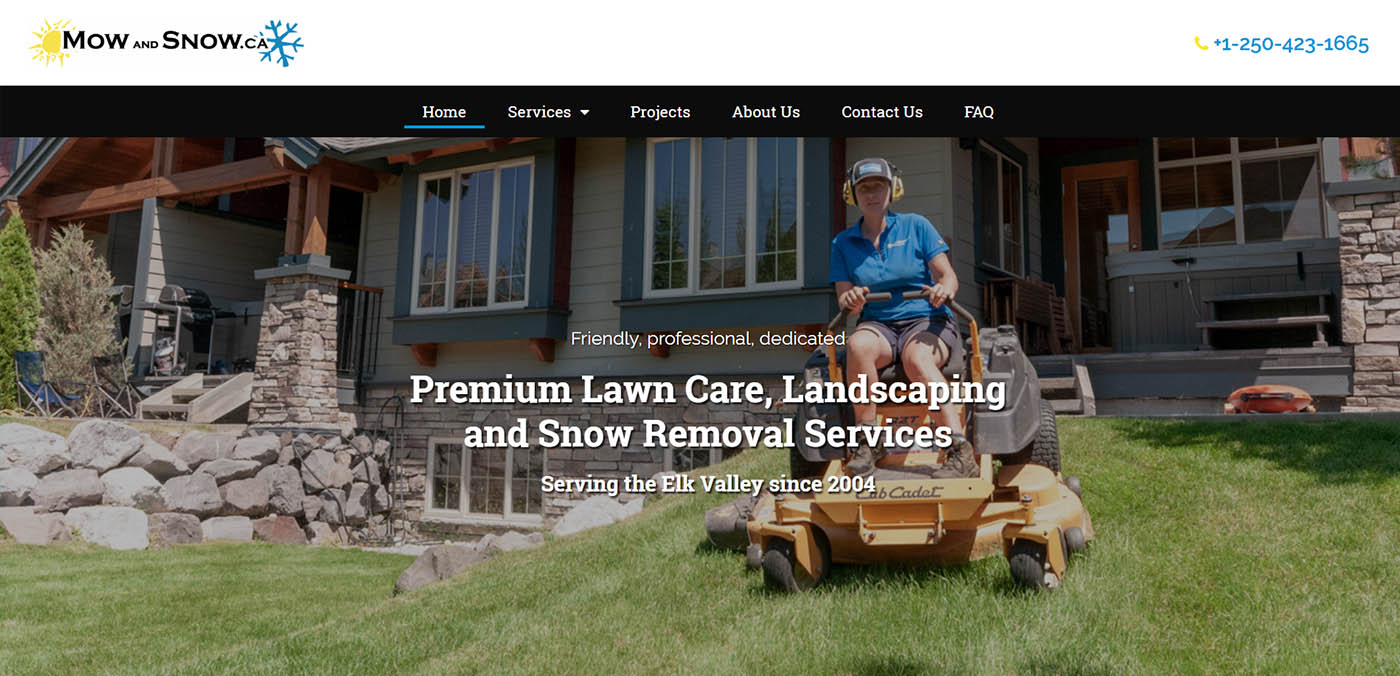 Mow and Snow home page